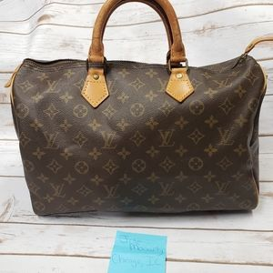 Louis Vuitton Speedy 35 monogram satchel hand bag